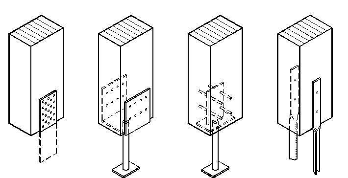Quali sono i tipici collegamenti trave pilastro e pilastro for Strutture metalliche dwg