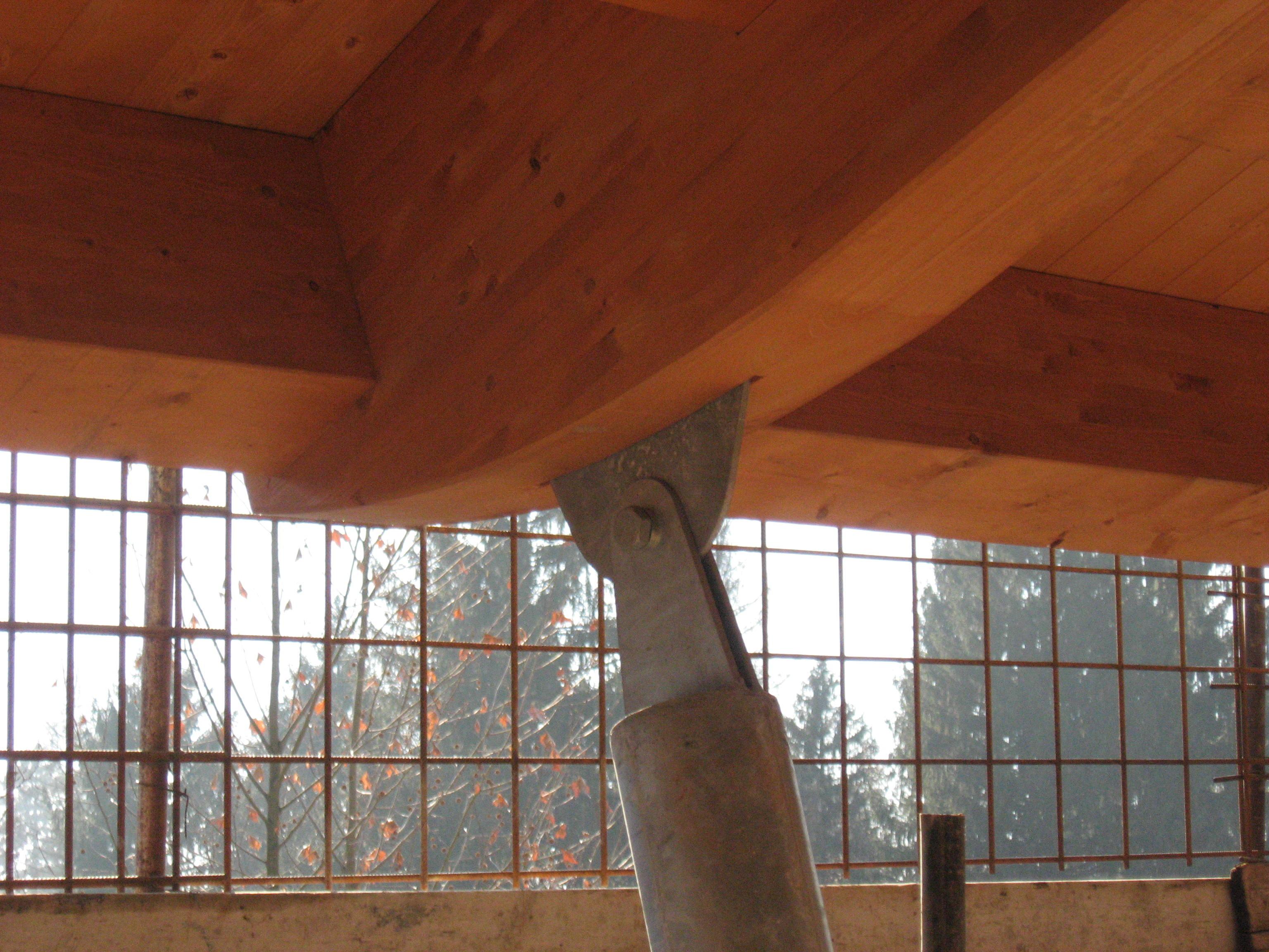E 39 possibile sostenere una tettoia con travi in legno for Travi in legno sul portico anteriore