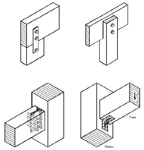 Come possibile realizzare il collegamento tra 2 travi e for Strutture metalliche dwg