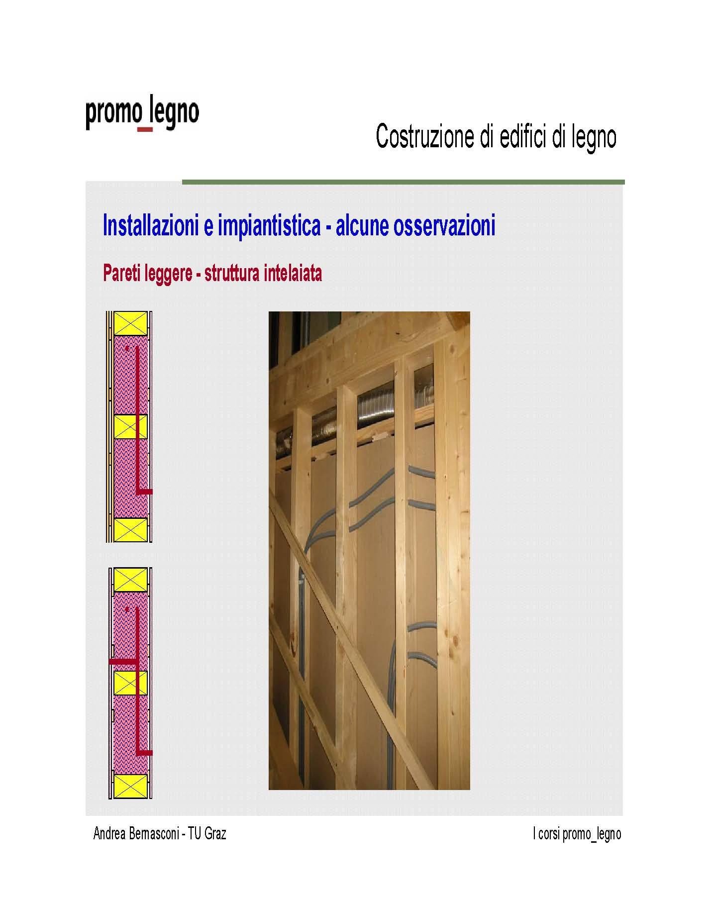 Considerando una costruzione in legno a pannelli intelaiati, come ...