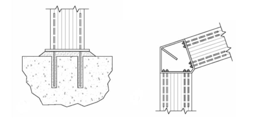 Dove si trovano esempi di pilastri in legno incastrati for Fondazioni per case in legno