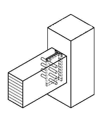 Come posso ancorare una trave di legno al pilastro di for Fondazioni per case in legno
